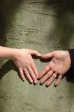 poślubić par rąk Obraz Royalty Free