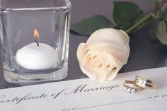 poślubić pierścieni Zdjęcie Stock