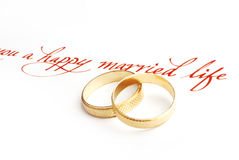 poślubić pierścieni zdjęcia stock