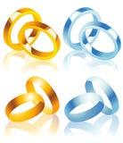 poślubić pierścieni ilustracja wektor