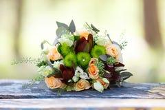 Poślubiać, bukiet kwiaty panna młoda Dekoracja dla zolu Fotografia Royalty Free