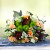 Poślubiać, bukiet kwiaty panna młoda Dekoracja dla zolu Obrazy Royalty Free