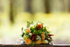 Poślubiać, bukiet kwiaty panna młoda Dekoracja dla zolu Zdjęcia Stock