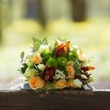 Poślubiać, bukiet kwiaty panna młoda Dekoracja dla zolu Zdjęcie Royalty Free
