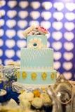 Poślubiać i bankieta tort Fotografia Royalty Free