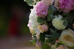Poślubiać kwiatu bouqete biel i kolor Zielony tło Zdjęcie Royalty Free