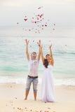 Poślubiać na plaży obrazy royalty free