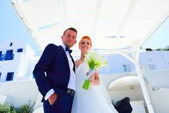 Poślubiać na Santorini fotografia royalty free