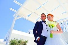 Poślubiać na Santorini obrazy royalty free