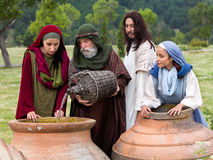 Poślubiać przy Cana biblii sceną obraz stock