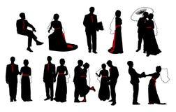 Poślubiać ustalone sylwetki royalty ilustracja