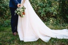 Poślubiać w drewnach obraz stock
