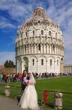 Poślubiać w Piza Obraz Royalty Free
