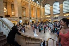 Poślubiać w Uroczystej centrali staci Zdjęcie Royalty Free