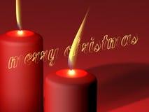 Poślubia Boże Narodzenia - świeczki Zdjęcie Royalty Free
