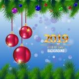 Poślubia bożych narodzeń i nowego roku kartka z pozdrowieniami - wektorowa ilustracja zdjęcia royalty free