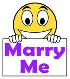 Poślubia Ja Poślubia propozycję Na Szyldowych sposobach royalty ilustracja