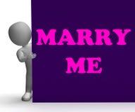 Poślubia Ja Szyldowy sposobu romans, małżeństwo I ilustracja wektor