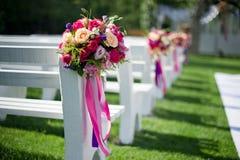 Poślubia krzesła Zdjęcia Royalty Free