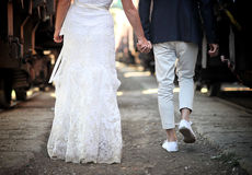 poślubiająca piękna para Obrazy Stock
