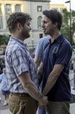 Poślubiającej homoseksualna para w Wisconsin niedawno Fotografia Stock