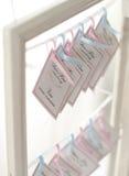 Poślubiający życzenie grępluje elegancki dekoracyjnego Zdjęcia Royalty Free