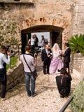 Poślubiający przy Malcesine Kasztelem, Jeziorny Garda, Włochy Obrazy Royalty Free