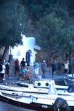 Poślubiający w Agios Nikolaos schronieniu, Crete Fotografia Royalty Free