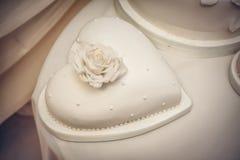 Poślubiający, zobowiązanie tort Obraz Stock