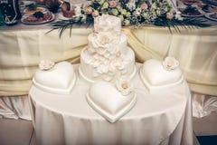 Poślubiający, zobowiązanie tort Zdjęcia Stock