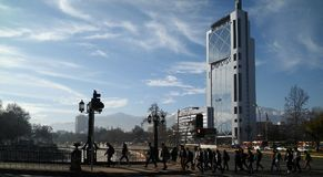 Pośpiech pracować w Santiago, Chile Zdjęcia Royalty Free