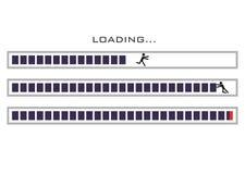 Pośpiech, stres, pogania przy pracą Komputer ilustracja wektor