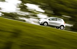 pośpieszny samochodowy panning zdjęcia royalty free