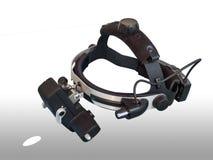 Pośredni oftalmoskop jest instrumentem dla oko egzaminu obraz stock
