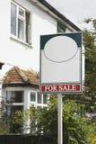 Pośrednik W Handlu Nieruchomościami dla sprzedaż znaka Obraz Royalty Free