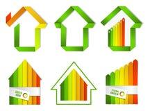 Poświadczający zielony houe set ilustracji
