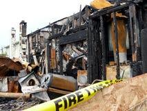 pożar w domu zdjęcie royalty free