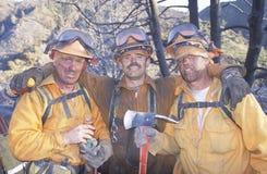 Pożarnictwo załoga obrazy royalty free