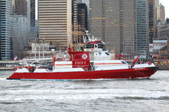 Pożarnicza łódź Obrazy Royalty Free