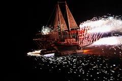 Pożarnicza łódź Brazylia fotografia royalty free