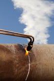pożarnicza benzynowa pochodnia fotografia stock
