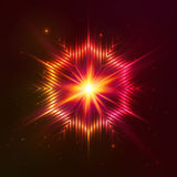 Pożarnicza czerwona wektor gwiazda Obrazy Royalty Free