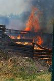 Pożarnicza katastrofa Obraz Stock