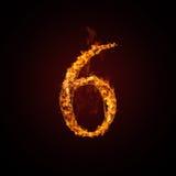 pożarnicza liczba Zdjęcie Royalty Free
