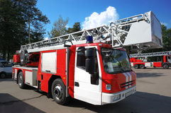 pożarnicza nowożytna ciężarówka Obrazy Royalty Free