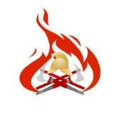 Pożarnicza ochrona Zdjęcie Royalty Free