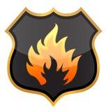 Pożarnicza osłona Fotografia Royalty Free