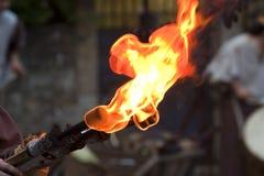 pożarnicza pochodnia Fotografia Royalty Free