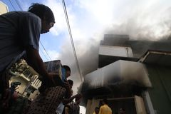 Pożarnicza szkoda Zdjęcie Stock