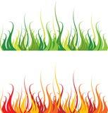 pożarnicza trawa ilustracja wektor